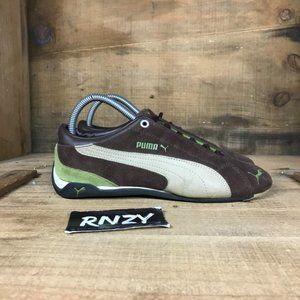 Puma Brown Low Top Suede Running Sport Shoes